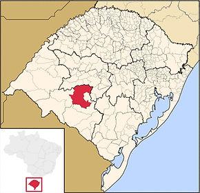 Mapa São Gabriel RS