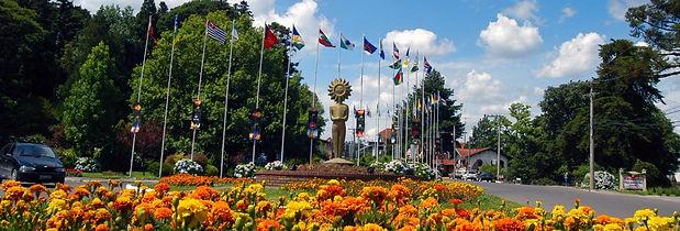 Praça das Bandeiras em Gramado - Rio Grande do Sul - Brasil