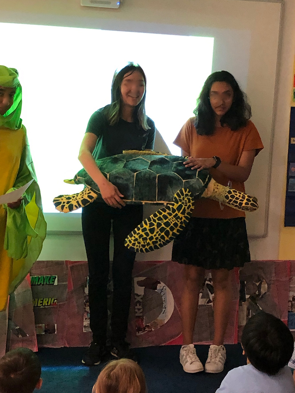 8th graders to give lesson with turtle puppet for Kindergarten