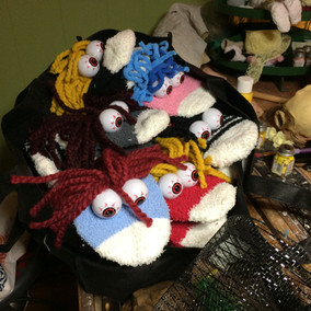sock puppets for class!
