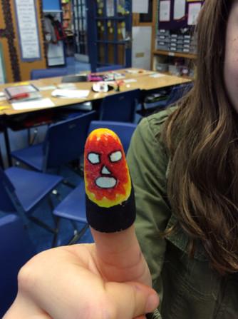 Luchador: finger puppets