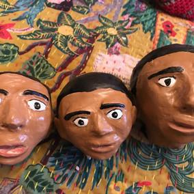 Heads for Tortilla Corredora: Plaster