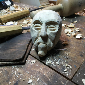 Carved head- Esperanza