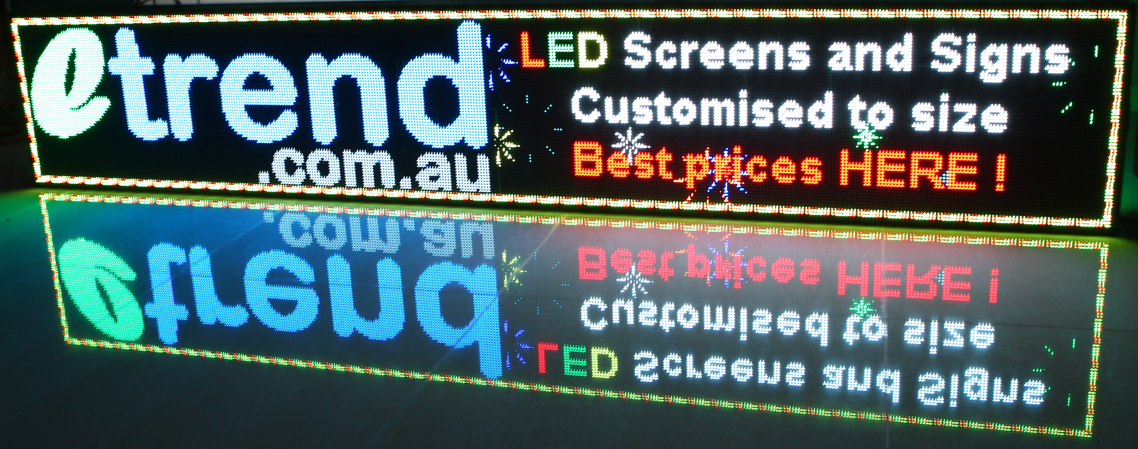 Under Awning LED Sign box
