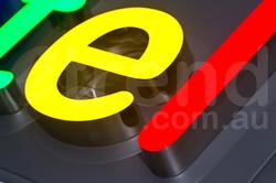 Epoxy resin front lit 3D LED sign