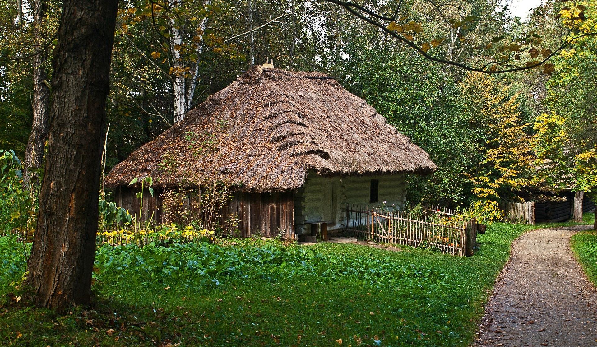 casa madera, Polonia, skansen