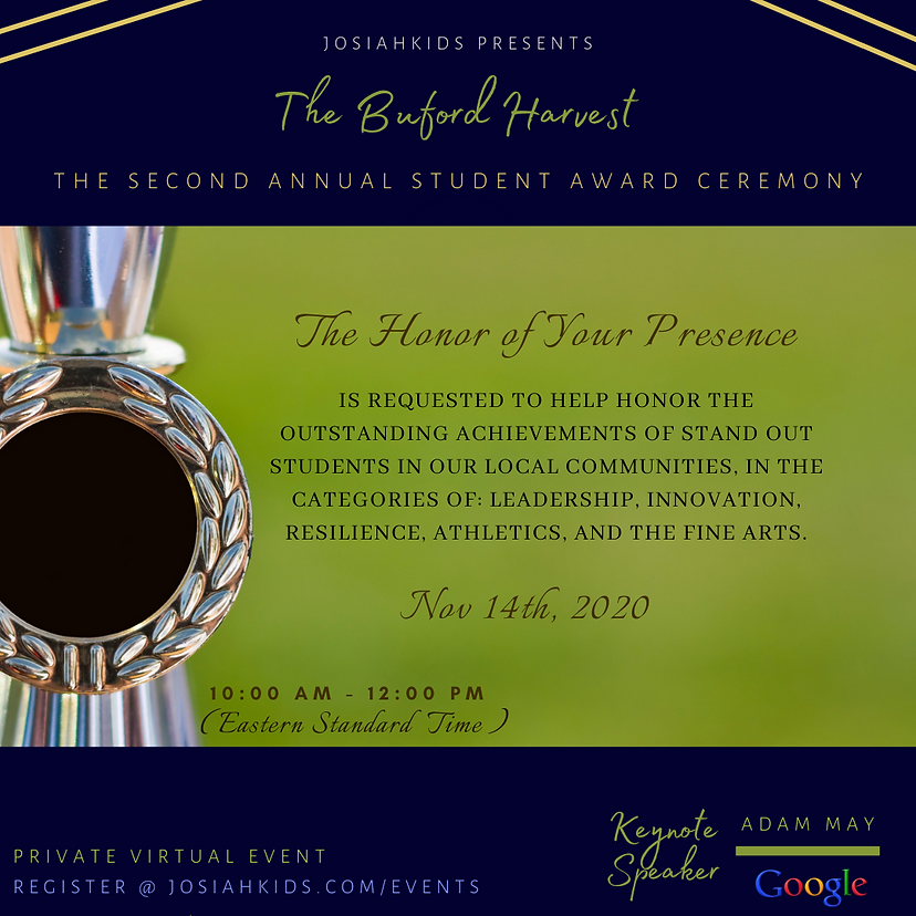 Buford Harvest Award Ceremony - INVITATI