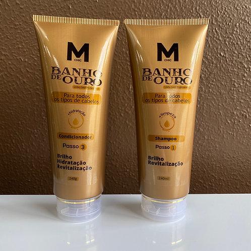Shampoo e Condicionador Banho de Ouro 240g