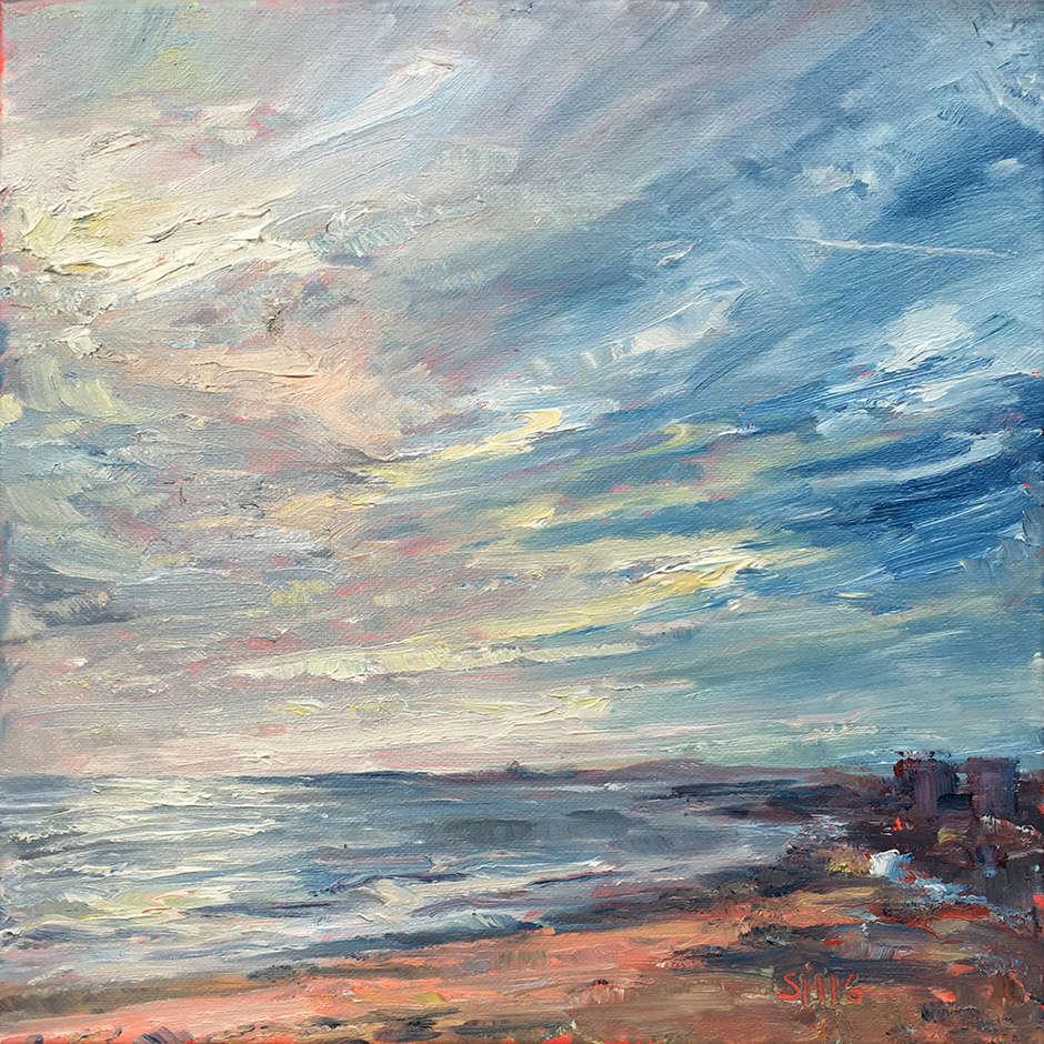 Brighton Sunset on Boxing Day, Sharon Henson