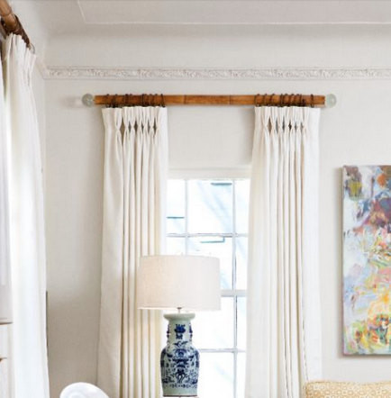 beautiful burnt bamboo and lucite curtain rods