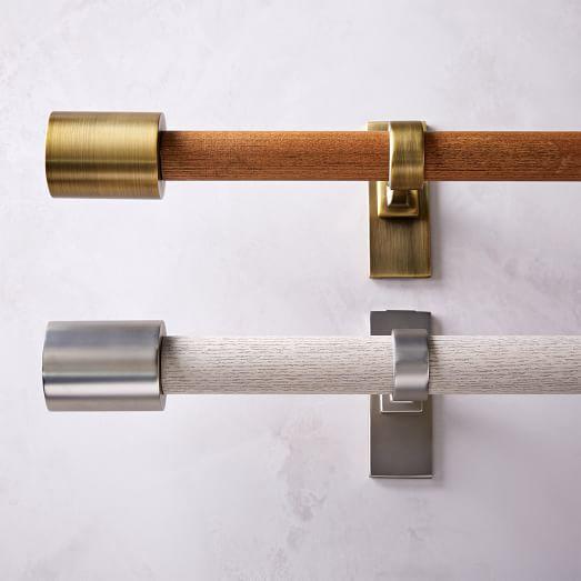 midcentury modern curtain rods