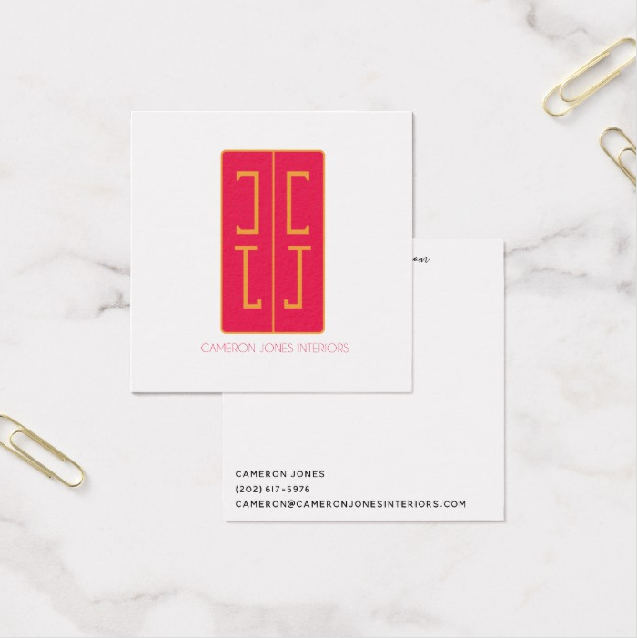 Cameron Jones Interiors Business Cards