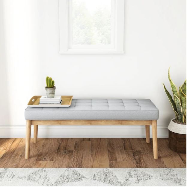 mid-century mod ottoman bench