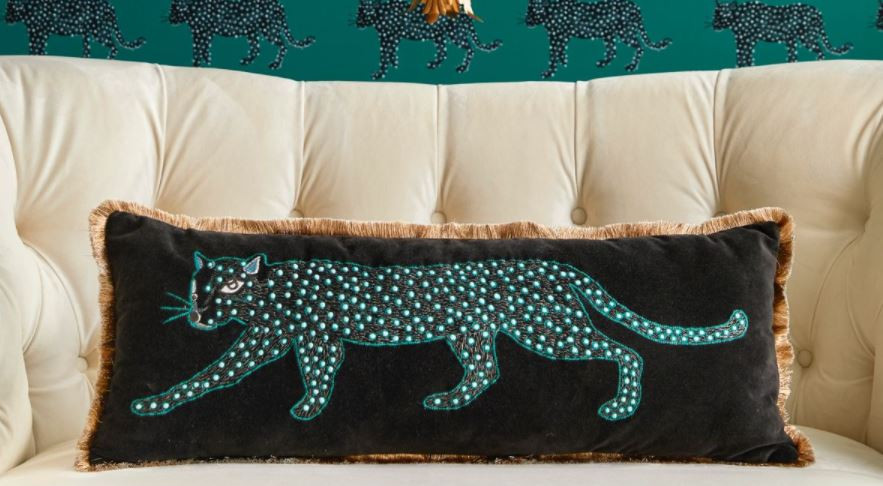 velvet leopard pillow from Target's Opalhouse