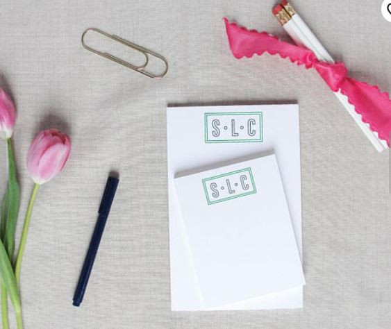 modern monogrammed notepads by Meredith Collie Paper