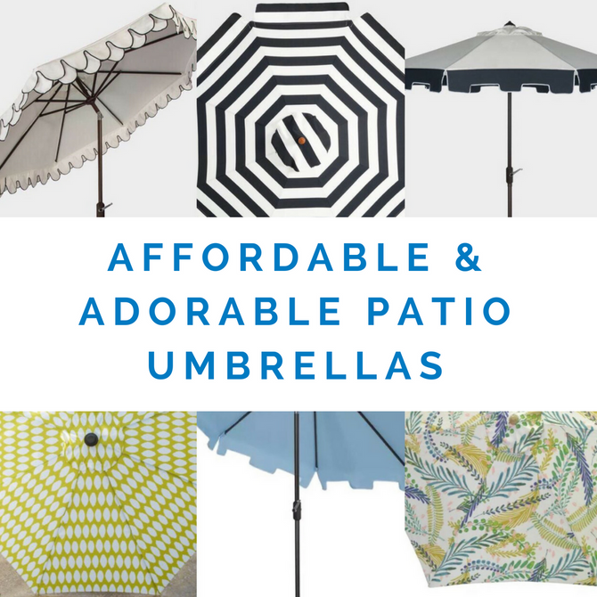 Affordable and Adorable Patio Umbrellas