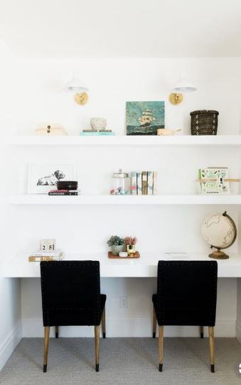 shelf styling: leave the blank space