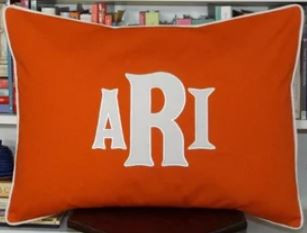 large monogrammed pillow shams for boys room