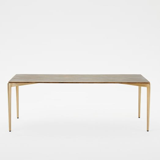 textured metal coffee table