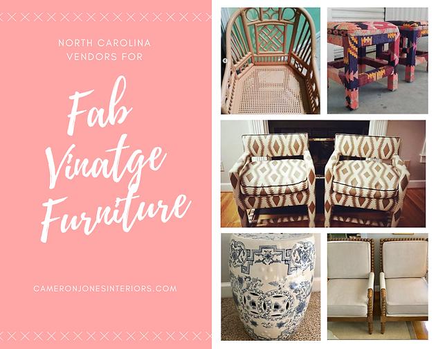 Great North Carolina Vintage Furniture Sellers Interior Decorator