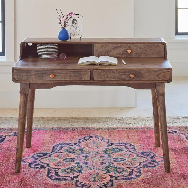 small stylish writing desk from grandin road