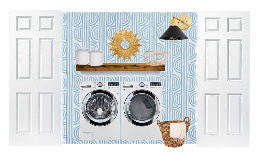 budget-friendly laundry room design plan