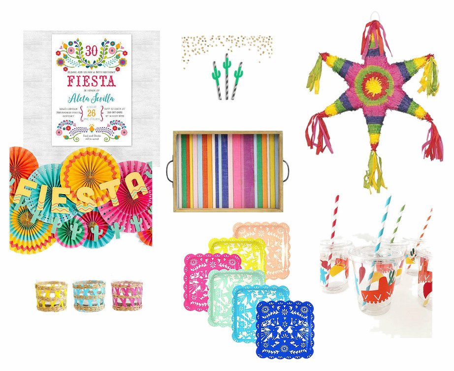 fun and colorful fiesta party supplies