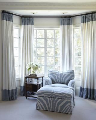 custom rod for draperies to cover bay window