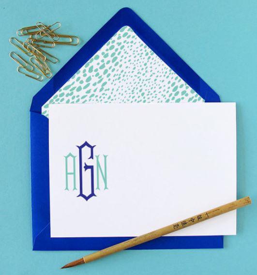 Modern Monogrammed Stationery by Erin Haines Design