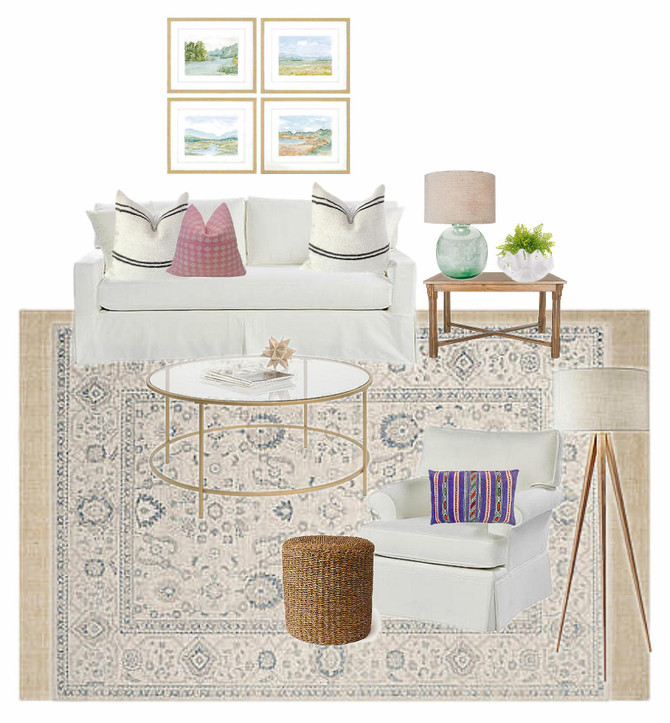 Design for a Coastal Casual Living Room