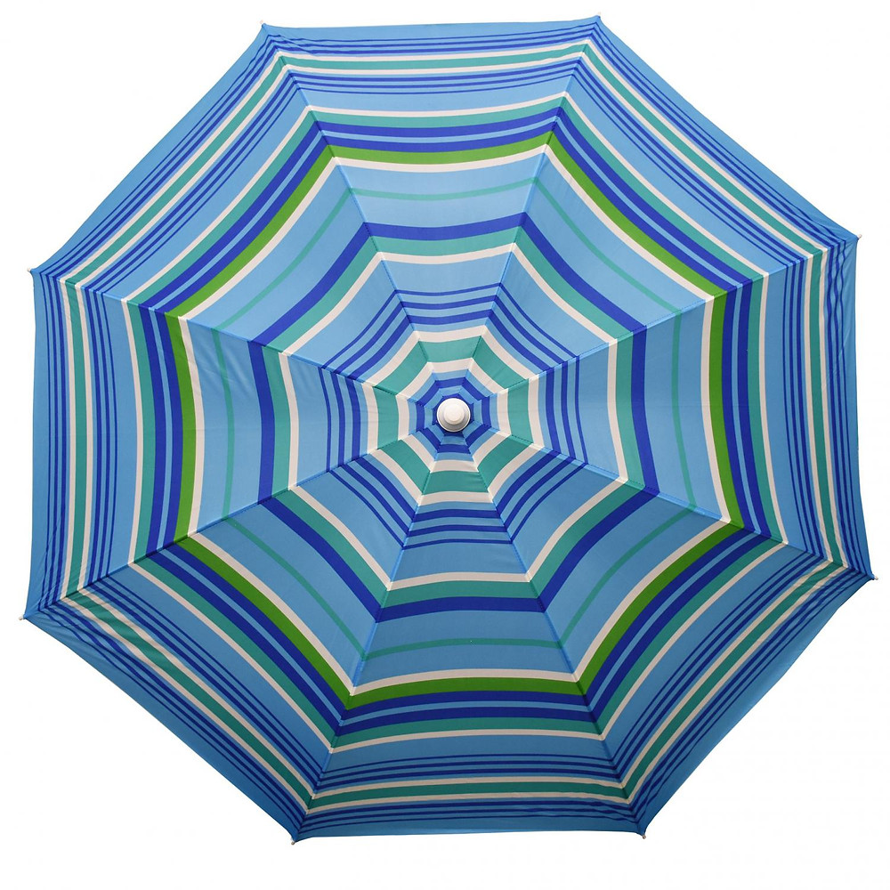 blue strip patio umbrella