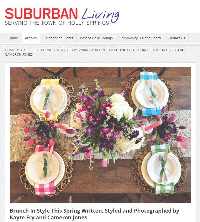 Suburban Living Spring Article Cameron J