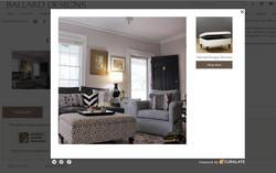 Ballard Designs Ottoman in living room