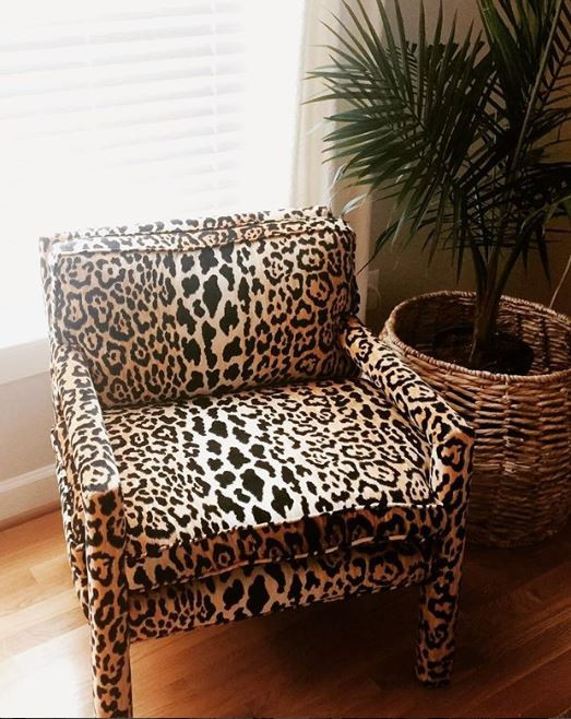 stunning leopard chair by Willowbrook Drive