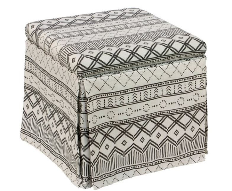 skirted storage ottoman one kings lane