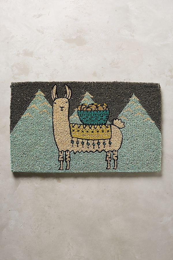 llama doormat