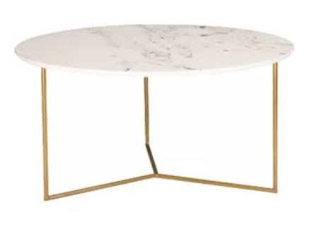 faux marble and metal coffee table