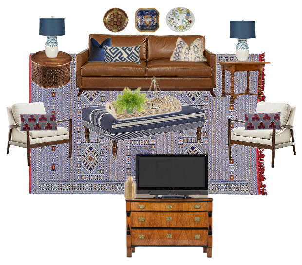 Design Plan for a Cozy, Collected Living Room