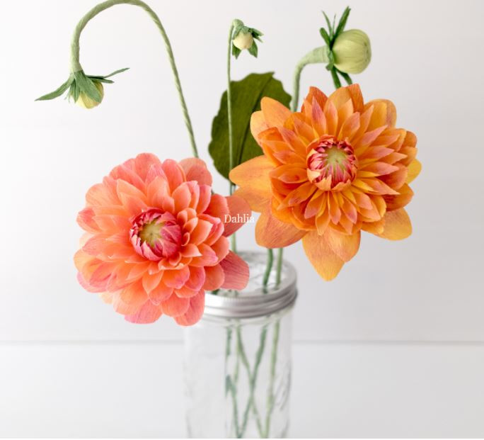 beautiful paper flowers paper dahlias