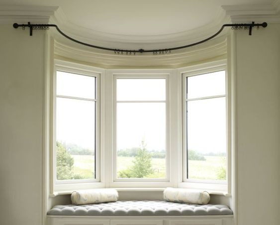 curved rod for curtains for bay window