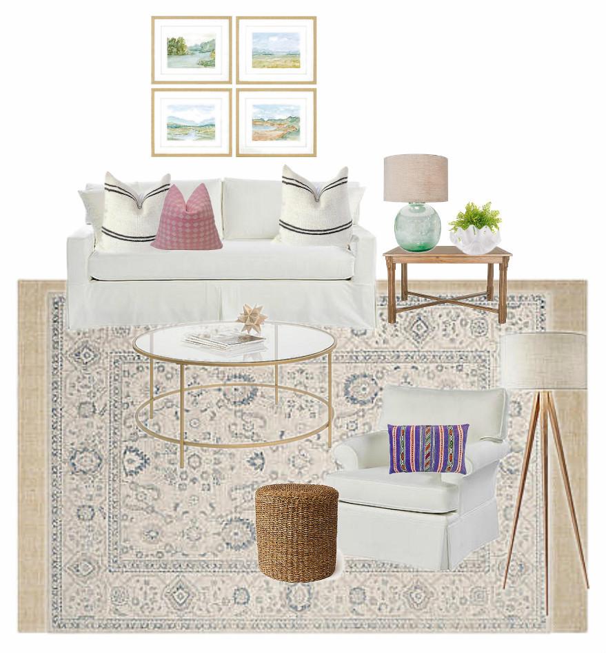 design plan for a coastal casual living room