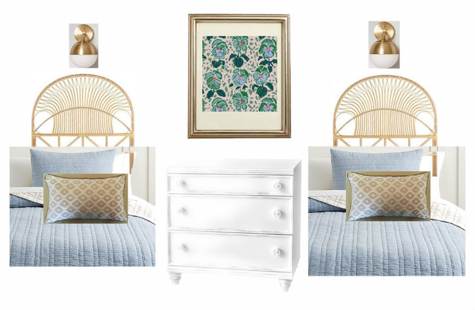 Design Inspiration for a Shared Girls Beach Bedroom