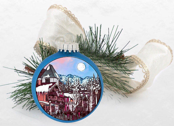 Gore Range Alpine Blue Ornament