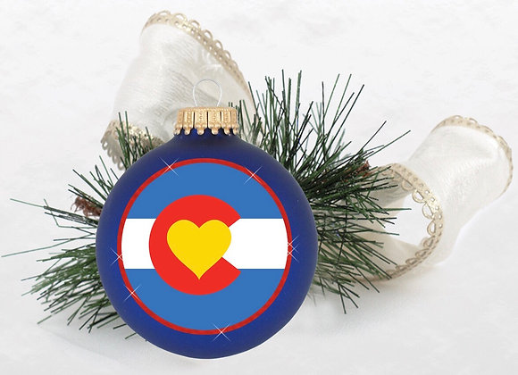 Colorado State Ornament Royal Blue