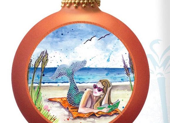 Mermaid on a Beach Towel No Bow