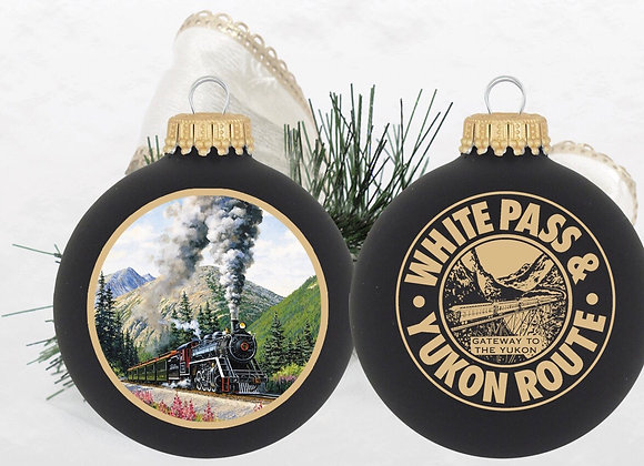 White Pass & Yukon Black Ornament