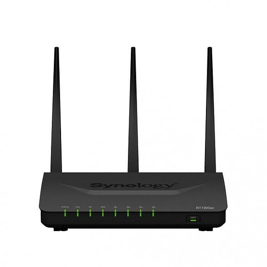 Synology RT1900ac Router, Dual-Core 1.0GHz, 256MB DDR3, 2.4/5GHz, IEEE 802.11a/b