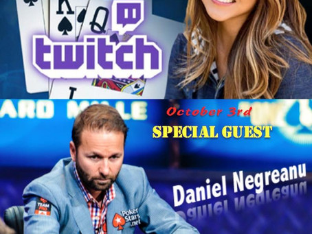 Today on Poker Central's LIVE WITH MARIA HO - special guest Daniel Negreanu