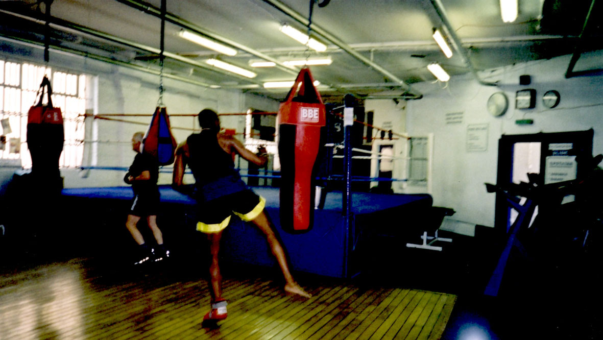 Boxing At Peacock Gym in Canning Town, c.2001.