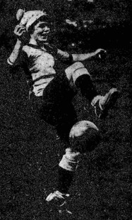 Maud Smith Playing For Sterling Ladies FC in Ilford, c.1918.